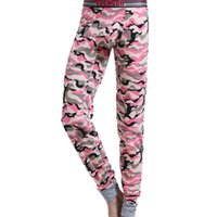 Wholesale Men Under Underwear - New arrival brand COCKCON men underwear Camouflage cotton long johns U pouch Tight pajamas Warm under pant legging