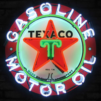 Wholesale White Green Motors - New Glass Neon Sign Beer Signs Neon Signs Pub Bars Texaco Gasoline Motor Oil