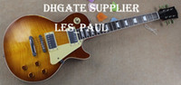 Custom Shop Billy Gibbons Guitare Pearly Gates Flame Maple Top Relique Guitare électrique Vintage Sunburst, Ebony Fingerboard Trapezoid MOP Inlay