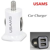 Wholesale Double Usb Car Phone Chargers - Dual Two USB Cell phone Car Chargers 5A 3.1A Double 2 Ports High Quality Power Auto Adapter for iPhone 7 6S HTC iPod Samsung Galaxy S5