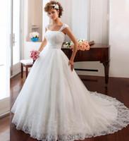 Wholesale Sale Wedding Dresses Fast - Fast Shipping Vintage Ball Gown Wedding Dresses Vernassa Vestido De Novia Casament Cheap Bride Wedding Gowns 2017 Hot Sale
