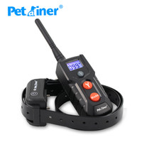 blue dogs breeds - Petrainer Pet Dog Training Collar Rechargeable Waterproof Dog Electronic Shock Training Collar with Blue LCD display