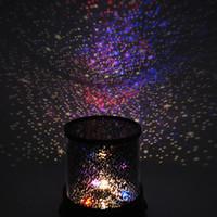 luces led coloridas estrellas del cielo estrella al por mayor-Venta caliente Colorido Sky Star Master Night Light Lovely Sky Starry Star Proyector Novedad Regalos Lámpara de luz LED de alta calidad