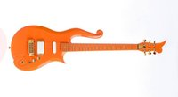 Wholesale guitar electric gold hardware online - Rare Schecter Diamond Series Prince Orange Cloud Electric Guitar Gold Hardware Deluxe Purple Crocodile Leather Hardcase Red Inner