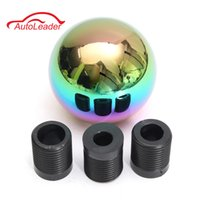 Wholesale Ball Gear Knob - Colorful Manual Car Auto Gear Stick Ball Style Shifter Lever Shift Knob + 8mm 10mm 12mm Adapters Universal Car