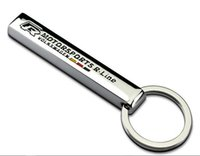 Wholesale vw race car for sale - 1pcs R Rline VW SLIVER Stainless HIGH QUALITY RACING SPORT METAL VIP AUTO CAR truck motor KEY RING KEYCHAINS