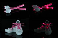 7 couleurs Hommes Femmes Light Up LED Shoelaces Fête Glowing Night Running Shoe Laces Club Highlight Luminous Shoelace 100 paires