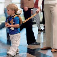 arneses al por mayor-Cute 2 en 1 arnés Buddy bebé arneses de seguridad animal de juguete mochilas Bebe Walking Reins guantes de niño Kid Keeper portadores