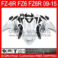 Wholesale black fz6r fairing resale online - 8gifts For YAMAHA FZ6R FZ6N FZ6 gloss white NO11 FZ R FZ R white black Fairing