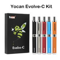 Wholesale multi c - Authentic Yocan Evolve-C Kits Wax Vaporizer Pen Kit With Wax Atomizer Oil Tank 2 in 1 E Cigarette Kits No-leakage 650mAh Vape Pen