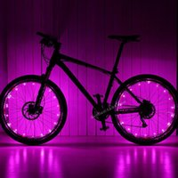 Wholesale Hot Wheels Road - 20 LED Colorful Bicycle Flash LED Light Mountain Road Bike Cycling Wheel Spoke led lamps 2m String Wire Lamp hot wheel lighting