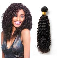 Wholesale Deep Brazilian Curls - Brazilian Curly Virgin Hair Peruvian Malaysian Indian Cambodian Mongolian Kinky Curly Human Hair Weave Bundles 8A Grade Deep Curl Unprocesse