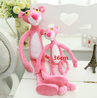 """Wholesale Naughty Baby - Wholesale- 1pcs 14.2"""" 36 CM NICI Cute Pink Naughty Leopard Pink Panther Plush Stuffed Toys Baby Kids Doll Brinquedos Free Shipping"""