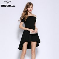 online shopping Midi Satin Dress - TINDERALA off shoulder dress 2017 summer women elegant sexy solid slash neck party club dresses new fashion