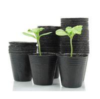 ingrosso vasi per bambini-Nuovi vasi da vivaio da 400 pezzi Padella per la nutrizione Padella per nutrizione Padella per nutrimento Fornitura da giardino Dimensioni 10 * 10