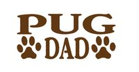 Wholesale Family Stickers For Car Windows - Wholesale 10pcs lot Pug Dad Cozy Family Sticker For Car Window Truck Bumper Auto SUV Door Kayak Dog Groomer car-covers Vinyl Decal