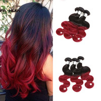 Wholesale bright color hair extensions buy cheap bright color brazilian hair bright color hair extensions beauty red ombre virgin human hair extension brazilian body pmusecretfo Gallery