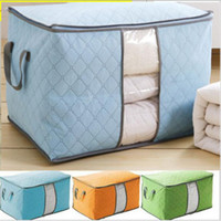Wholesale Charcoal Bag Wholesale - Portable Non Woven Storage Bag Bamboo Charcoal Quilt Clothing Blanket Pillow Underbed Bedding Organizer Storage Box Bags Container Big Size