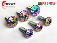 Wholesale Product Licenses - 6pcs colorful titanium screw bolt M5x20 product for fixing license or Engine room for automobile and automobile