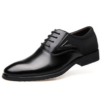 Wholesale Large Code Brand Mens Dress Shoes Genuine Leather Pointed Toe Office Formal Shoes Men Wedding Flats Casual Oxfords Italian