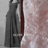 Wholesale dress mae bride for sale - Group buy Real Photo Blush Pink Chiffon A Line Mother of The Bride Dress Lace Appliques Pleated Wedding Party Guest Gown Vestido Mae Da Noiva
