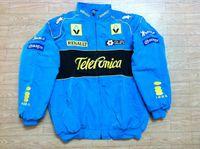 куртка наскар л оптовых-FIA Формула 1 слово Road Racing Cotton Jackets GSN NASCAR Мотоциклетная гоночная куртка для командного духа Renault Car F1 moto Racing Team куртки