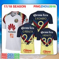 Wholesale Wholesale Jersey S America - 2017 2018 mexico club america soccer jerseys 17 18 PERALTA SAMBUEZA MATHEUS URIBE LAINEZ QUINTERO football shirt Thai Quality send DHL