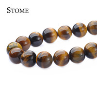 Wholesale Round Gemstone Beads 14mm - Loose Tigereye Round Beads Gemstone 4-14mm Fashion Jewelry Strand For DIY S-171 Stome