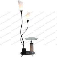 Wholesale Decorative Modern Floor Lamp - 2017 hot Modern Tea Table Lamp LED Floor Lamp Bedroom Living Room Floor Lamps Floor Lamp with Glass Tray Table Decorative Lighting MYY