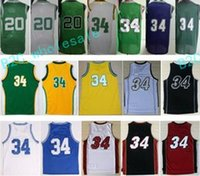 Cheap 2017 # 20 Retro Basketball Jerseys Shirt Nouveau matériel 34 Ray Allen Throwback Basketball Uniformes Classical Sport Wear With Player Nom