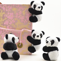 Creative Panda Muñeca Muñeca Mini Animal De Peluche 9cm Soft Panda Cortina Clip Birthday Party Favor Y Regalo ZA4575