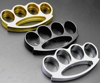 Wholesale Thick Belts Wholesale - 2PCS Knuckle duster belt buckle F-S THICK CHROMED KIRSITE BRASS KNUCKLES DUSTERS Boxing Protective Gear DHL FEDEX Fast shipping