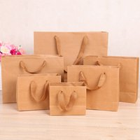 Wholesale Diy Bag Handle - Kraft Paper Gift Bag With Handle Practical DIY Bag For Gift Shopping Package Bags Packing Handbags Foldable Storage Pouch
