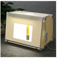 Wholesale 12 V Laptop - NEW 110 V   220 V SANOTO 12' X8' Mini Laptop Profesional Photo Studio Light Soft Box Photo Light Box MK30 Softbox Flash