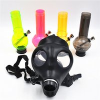 Wholesale Food Gas - New Design Round Mixed Colors Full Face Mask Hookah Water Pipe Gas Mask Bong Arabic Party Mask Safety Food Grade