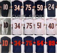 Wholesale Elite Football Jerseys - Elite football jerseys #24 Howard Mitchell Trubisky Kyle Long Dick Butkus Leonard Floyd Gale Sayers 34 Walter Payton Chicago men's jerseys