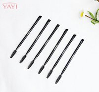 Wholesale Synthetic Mixed Hair Blends - 5Pcs Dual End Angle Top Eye Makeup Brush with Eyebrow Spiral Comb Beauty Brush Eyeliner Eyeshadow Cosmetic Blending Mixing Tool