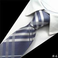 pescoço 8cm venda por atacado-Novos Homens Laços Gravata De Seda 8 cm dos homens Floral Neck Ties Festa de Casamento Formal Paisley Gravata de Alta Qualidade Inglaterra Terno de Negócio Laços # -6