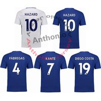 Wholesale Chelsea Orange - 2017 18 CHELSEA KANTE FABREGAS DIEGO COSTA HAZARD soccer uniform kits soccer jerseys thai quality thailand quality football shirts kit
