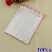 Wholesale Waterproof Mailing Envelopes - 10Pcs 180*150MM Pearl Film Bubble Envelope Courier Bags Waterproof White Mailing Bag Packaging