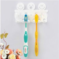 Vente en gros - Ensembles de salle de bain mignon Cartoon Sucker Brosse à dents / Crochets d'aspiration 5 Position Dush Holder Fff