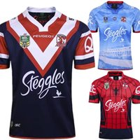 Wholesale Australian Quality - Top Thai quality Rugby Australian Sydney Roosters 2017 Home Jersey NRL football jersey Australian Roosters Rugby Jerseys shirt S-3XL
