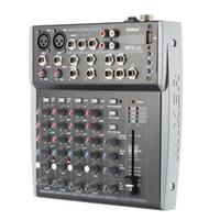 usb xlr venda por atacado-Freeshipping 8 Canais 3-Band EQ Mixer de Mixagem de Música de Áudio com USB XLR LINE Entrada 48 V Phantom Power para Gravação DJ Stage Karaoke