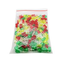 yellow raspberries al por mayor-250Pcs / Pack 5 tipos de kits de diodos LED, 5 mm, rojo verde amarillo azul blanco, cada categoría 50, para Arduino / Frambuesa Pi / Test Board
