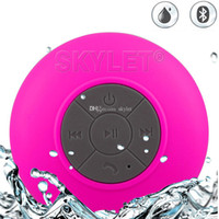 Wholesale Car Bass - BTS06 Waterproof Speaker Wireless Shower Handsfree Bluetooth Speakers Car Waterproof Portable mini MP3 Super Bass Receive Call Music In BOX