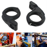 Wholesale Motorcycle Mirror Black Turn Signal - Mayitr 1'' 25mm Metal Motorcycle Turn Signal Light Handlebar Clamp On Mirrors Adapter Mount ATV Motorcycle Scooter Black