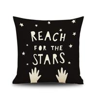 ingrosso tessuto di lino di qualità-Kid Tema Pillow Case Sofa Use Throw Pillowcase Cuscino quadrato 18