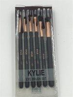 Wholesale Hair Packing Box - 6pcs Kylie cosmetics Eyes Makeup Brushes Sets Facial Make Up Brush Kit With Retail Box Packing