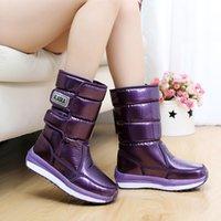 Wholesale Hot Boots For Female - Wholesale- 2016 Hot Women Boots Outdoor Waterproof Snow shoes for Women Plus velvet Female Winter boots Botas Fashion Women Winter Shoes