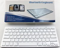 Wholesale Bluetooth Keyboard 78 - 50pcs Universal Ultra Slim Aluminum ABS wireless keyboard 78 Keys Bluetooth Keyboard for android device Windows IOS system DHL free ship